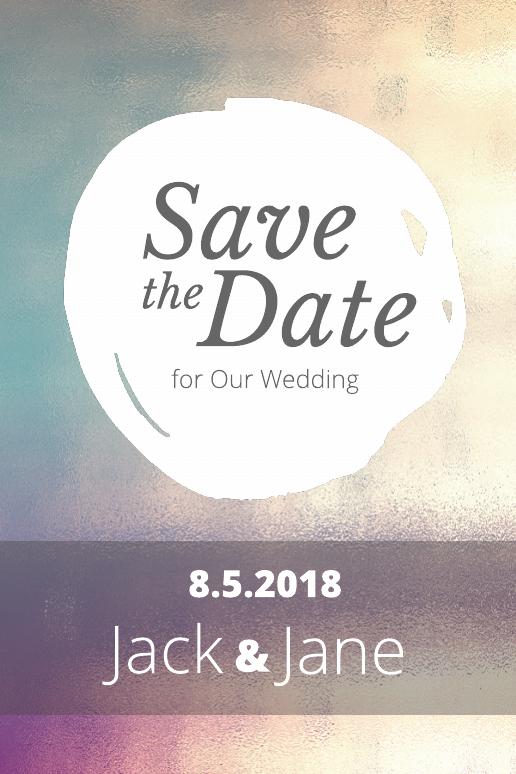 Paisley Save-the-Date Postcard Template