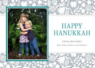 Family Hanukkah Card Template