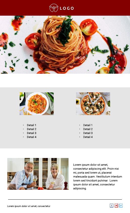 Restaurant Email Newsletter Template