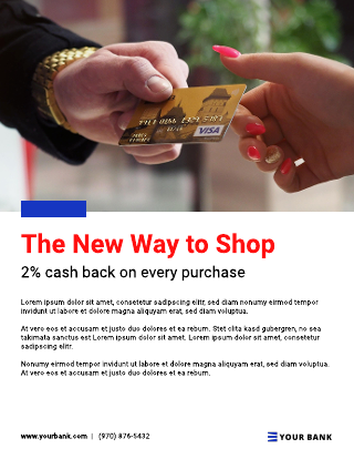 Bank business flyer template