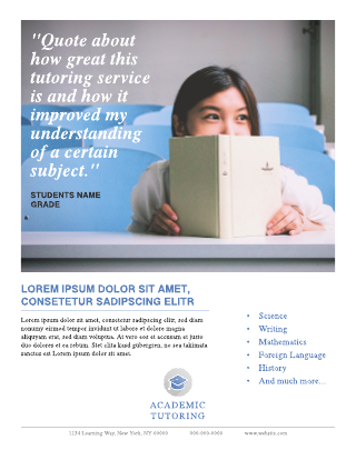 School tutoring flyer template