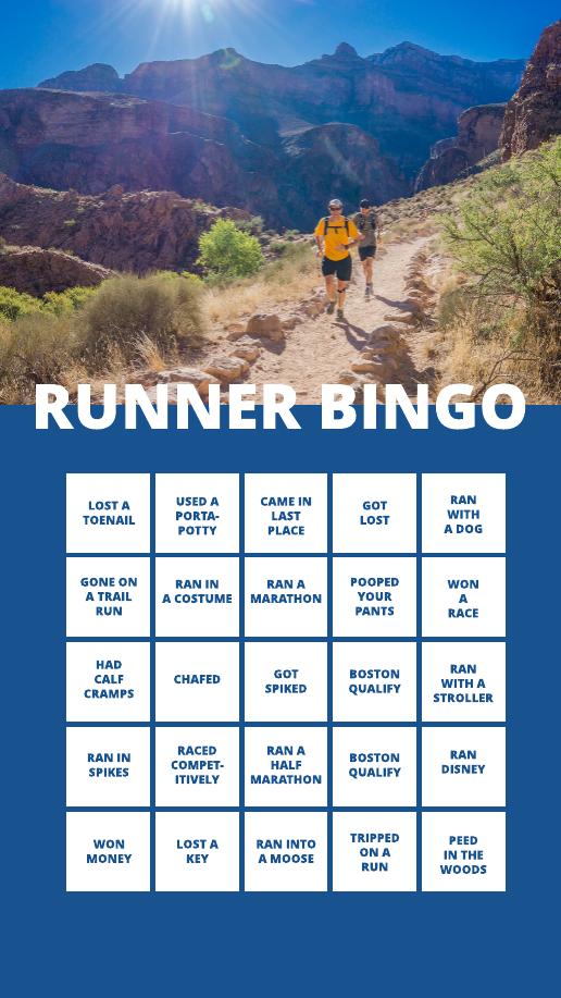Runner Bingo Instagram Story Template