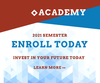 Abstract Blue and Red Education Banner Ad Template