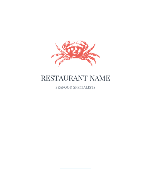 Fresh Catch Menu Template