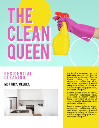 Residential Cleaning Service Flyer Template