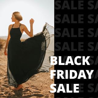 Black Friday Dress Sale Instagram Post Template