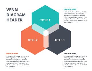 3-Hexagon Venn Diagram Template