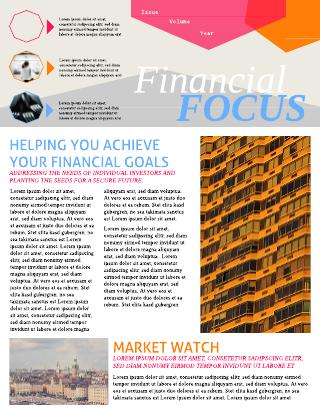 financial newsletter template