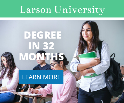 Green and Blue University Banner Ad