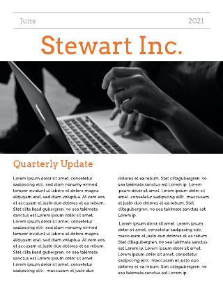 Classic Company Newsletter Template