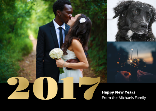 Collage New Years Card Template