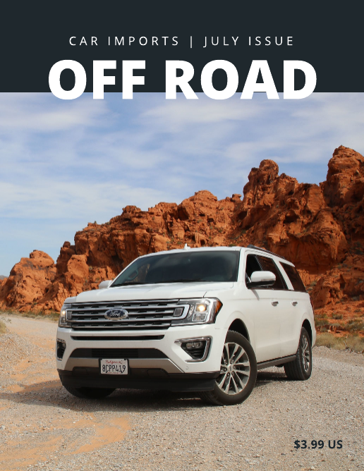 Off Road Car Magazine Template