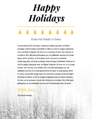 Holiday Letterhead Template #2