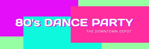 80s Dance Party Twitter Header Template