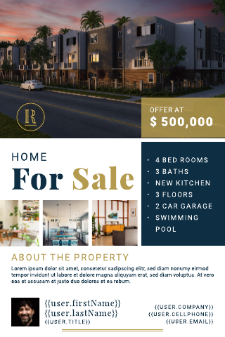 Smart Home for Sale Postcard Template
