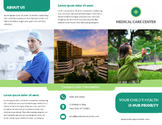 Healthcare & Medical Business Tri-Fold Brochure Template