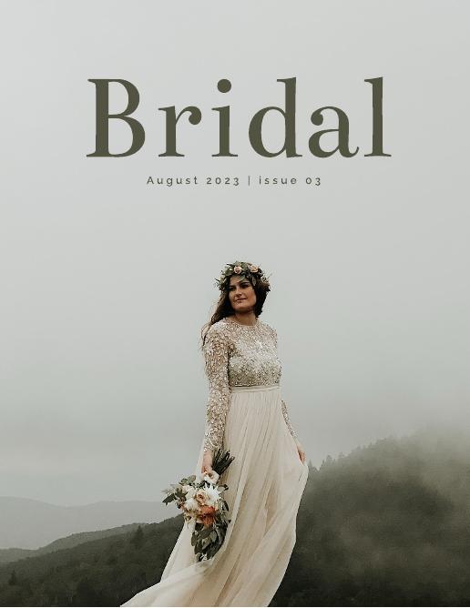 Cream and Sage Bridal Wedding Magazine Template