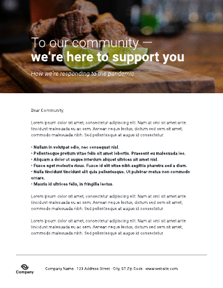 Brick-and-mortar pandemic response flyer template