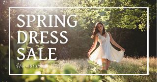 Spring Dress Sale Facebook Ad Template
