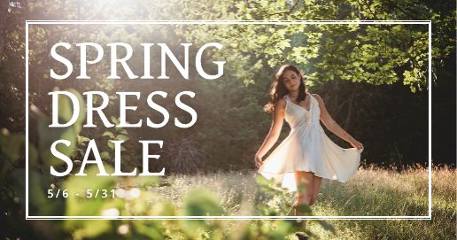Spring Dress Sale Facebook Ad Template