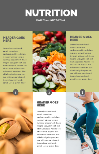 Nutrition and Exercise Medical Poster Template
