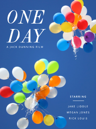 One day movie poster template