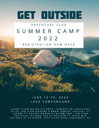 Outdoor Summer Camp Flyer Template