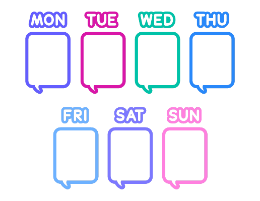 Days of the Week Calendar