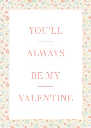 romantic valentines card template