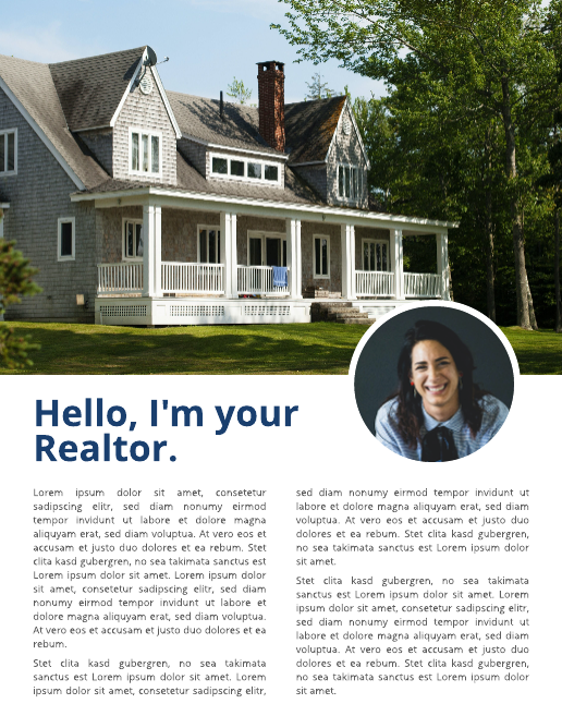 Realtor Introduction Real Estate Newsletter Template