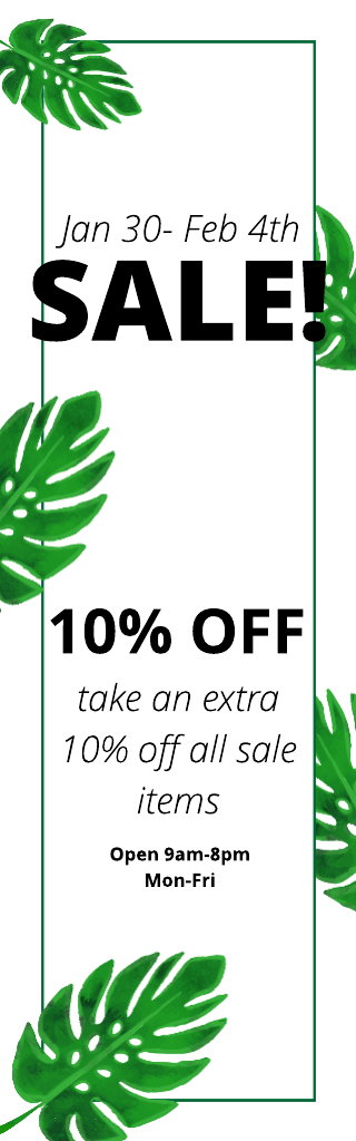 Lush Sale Advertising Banner Template Image 1