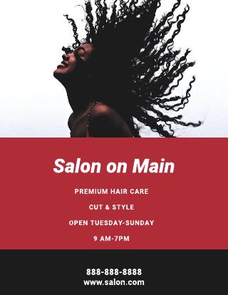 Hair salon on main flyer template