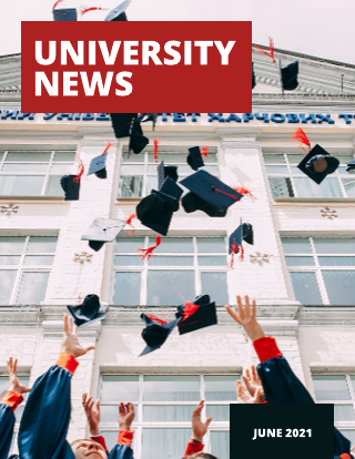 Red and Black University Magazine Template