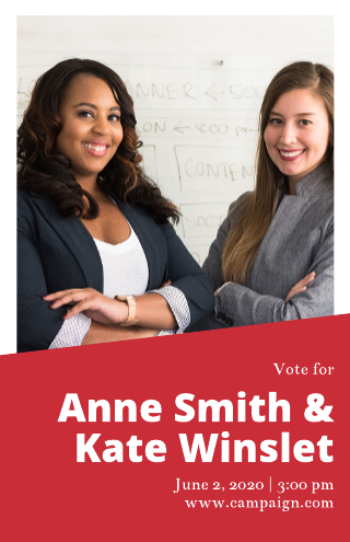 Duo campaign poster template
