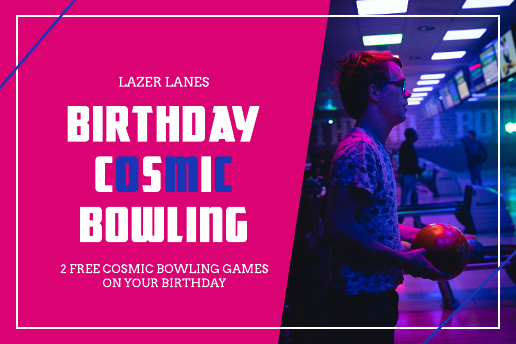 Bowling birthday gift certificate template