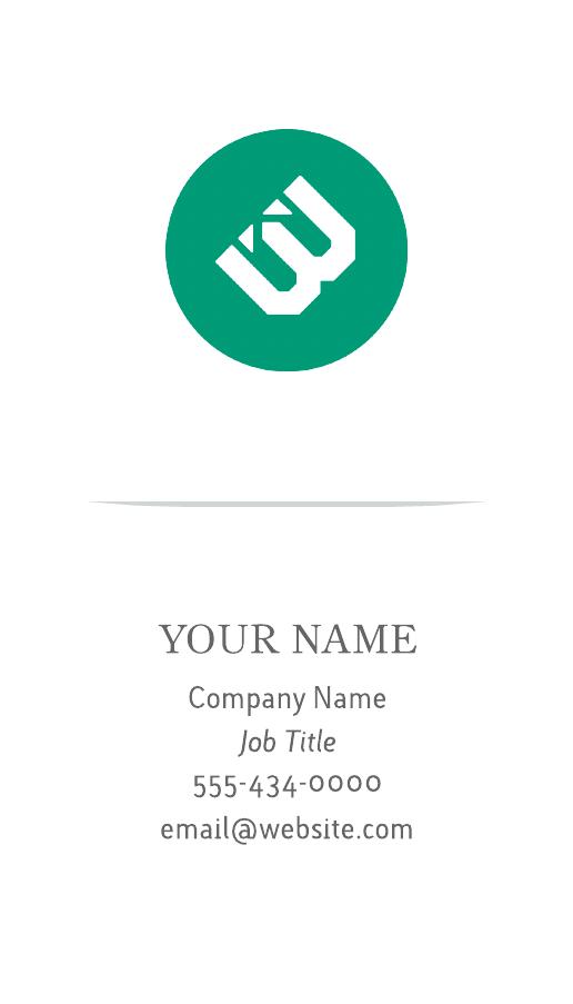Modern (Portrait) Business Card
