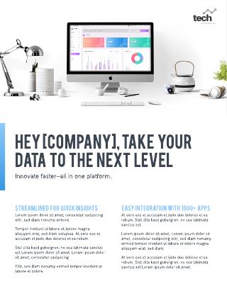 Tech business flyer template