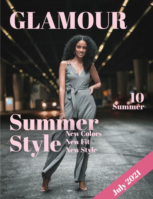 Summer Style Fashion Magazine Template