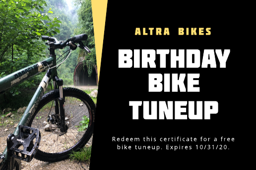 Bike birthday gift certificate template