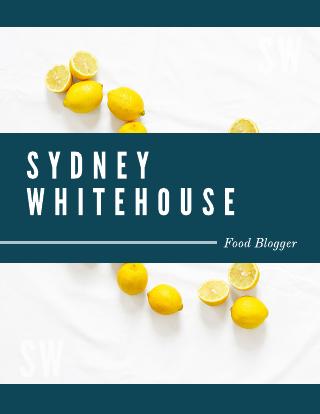Food blog media kit template