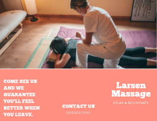 Modern Massage Brochure Template