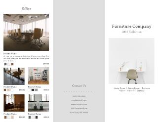 Contemporary Furniture Company Tri-Fold Brochure Template