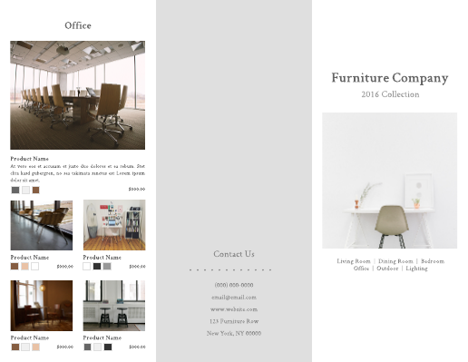 Contemporary Furniture Tri-fold Brochure