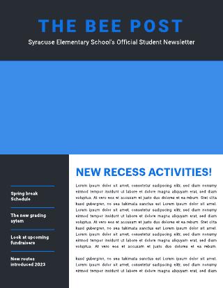 Basic Blue Newsletter Template