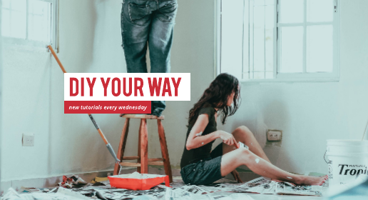 Red and White DIY Youtube Banner Template