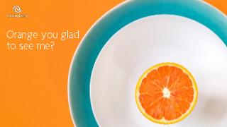 Orange Zoom background