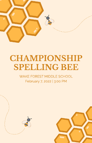 Spelling Bee Education Poster Template
