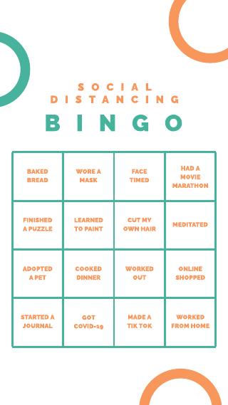 Orange and Green Bingo Instagram Story Template