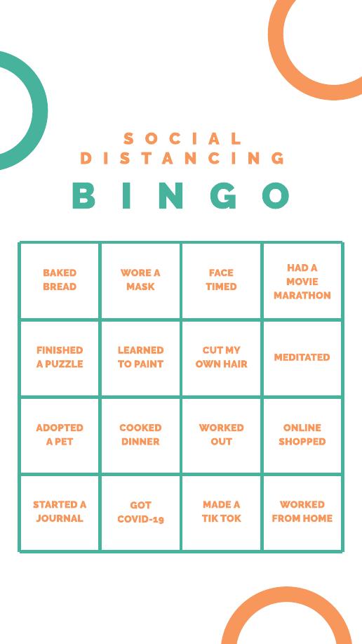 Orange and Green Bingo Instagram Story