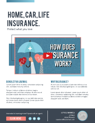 Insurance Flyer Video Template
